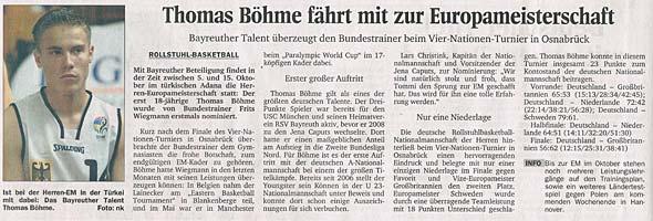 Thomas Böhme fährt mit zur Europameisterschaft