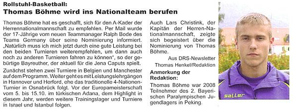 Thomas Böhme wird ins Nationalteam berufen (pdf-Datei)