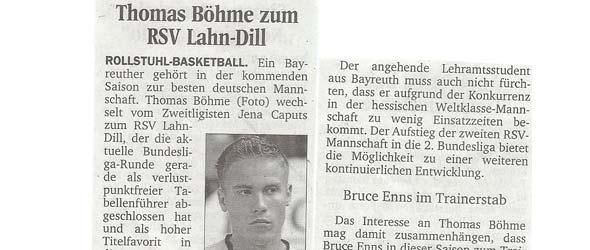 Thomas Böhme zum RSV Lahn-Dill
