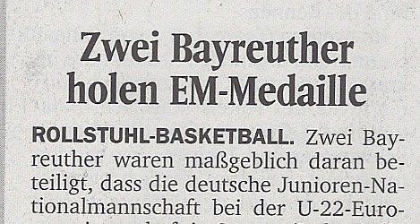 Zwei Bayreuther holen EM-Medaille