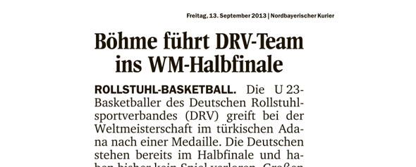 Böhme führt DRV-Team insWM-Halbfinale