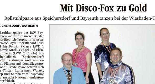Mit Disco-Fox zu Gold